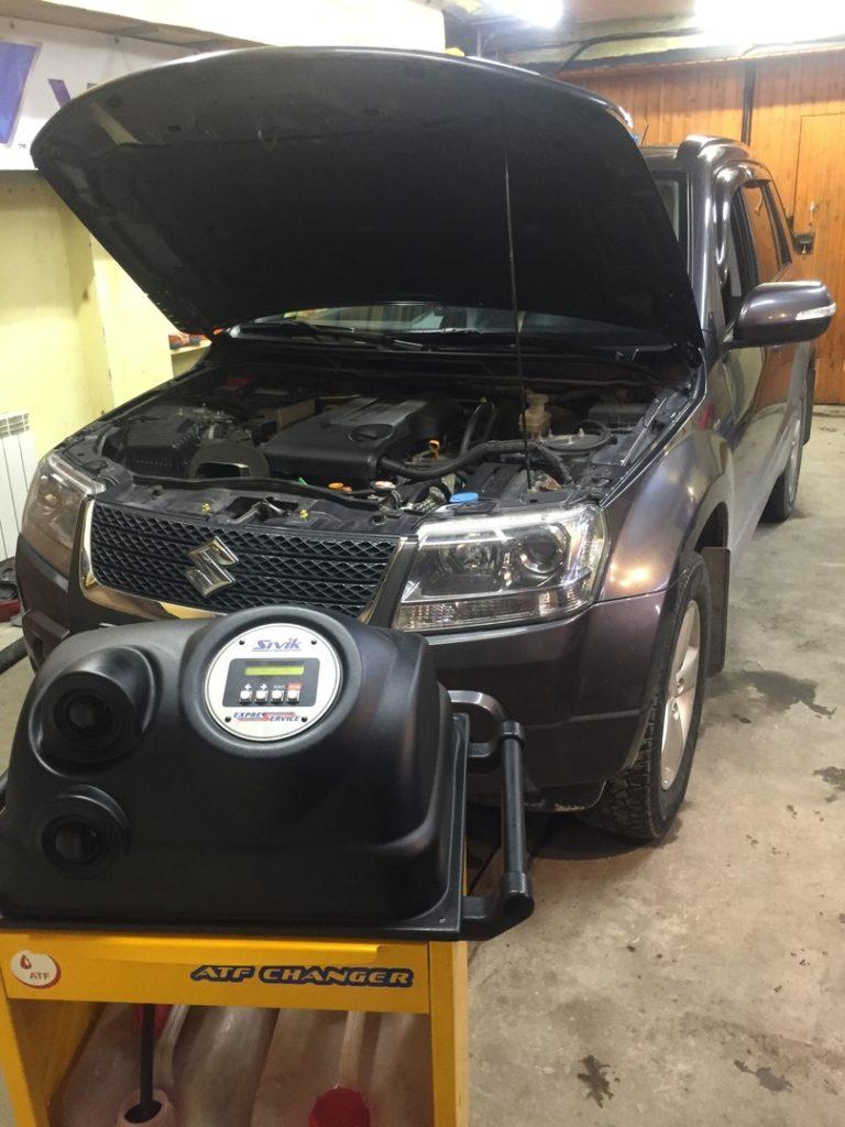 подготовка Suzuki Grand Vitara 2010 к замене масла в АКПП