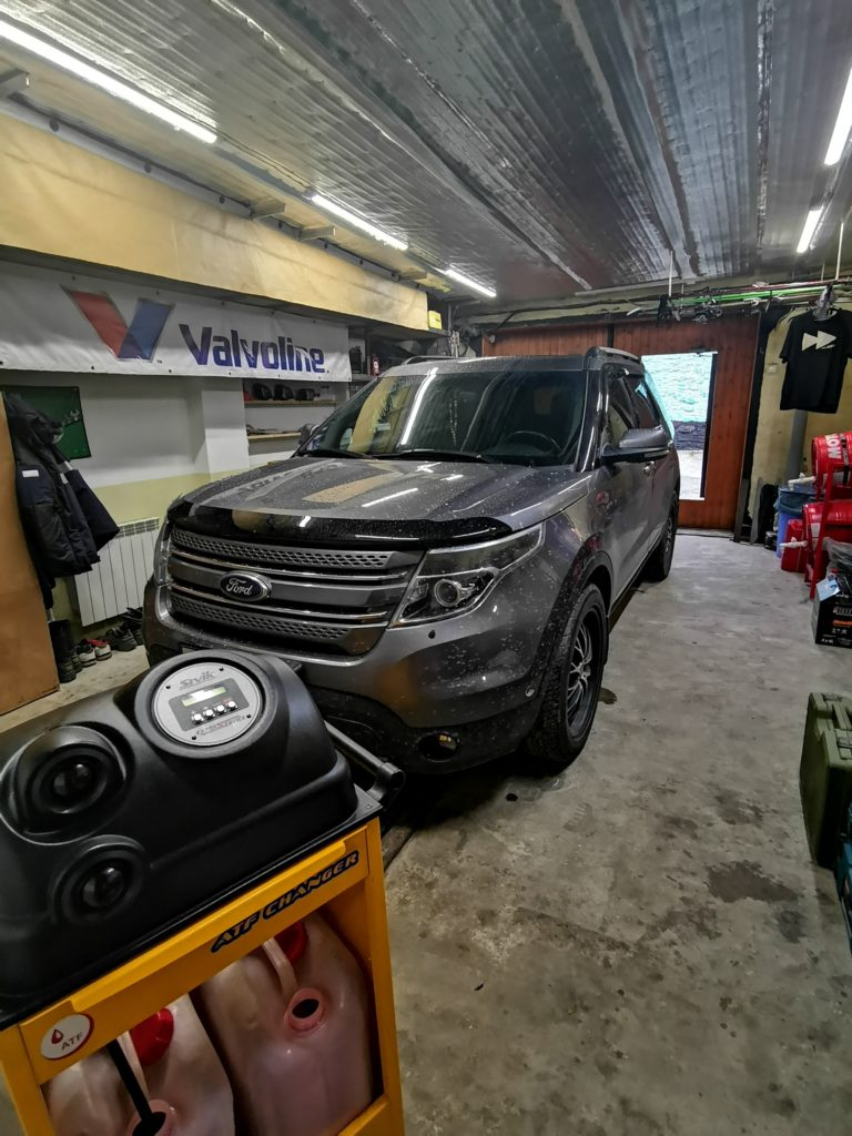 Подготовка Ford Explorer V к замене масла в АКПП