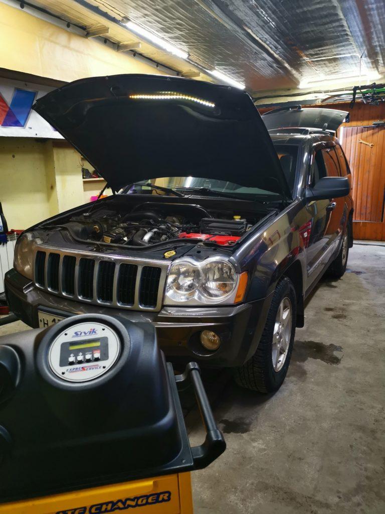 подготовка Jeep Grand Cherokee III 3.0 к замене масла в АКПП