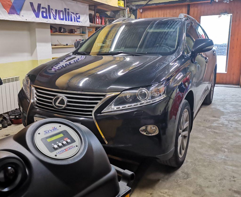Подготовка Lexus RX350 к замене масла в АКПП