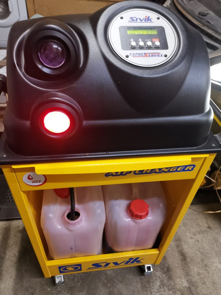 Процесс аппаратной замены масла в АКПП