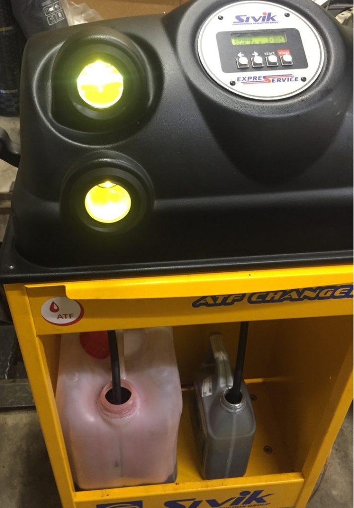 процесс аппаратной замены масла в вариаторе Nissan-Teana