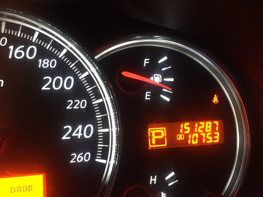 фиксация пробега перед сменой масла в вариаторе Nissan-Teana