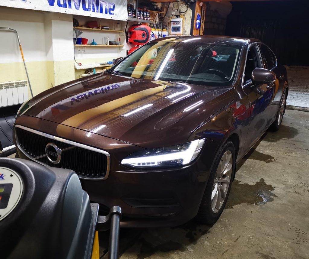 Подготовка Volvo S90 к замене масла АКПП
