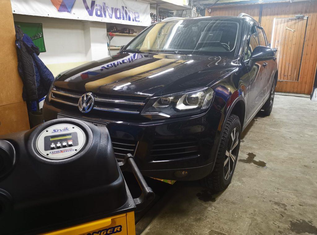 Подготовка Volkswagen Touareg II к замене масла в АКПП